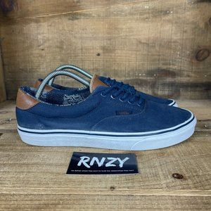 Vans Off The Wall Navy Blue Canvas Low Top Sneaker